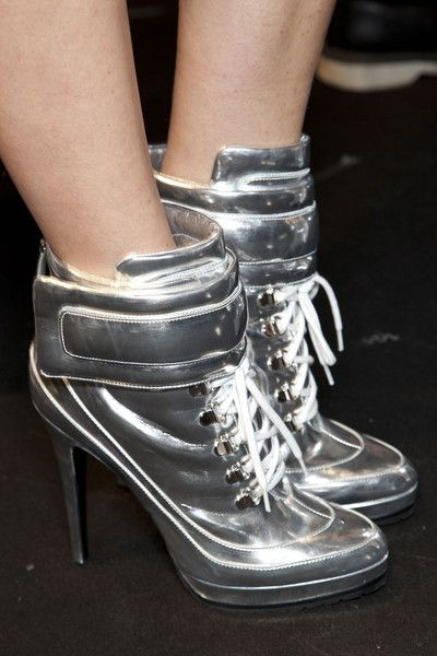 Blumarine FW 2012/ Boots/ Shoes/ Silver