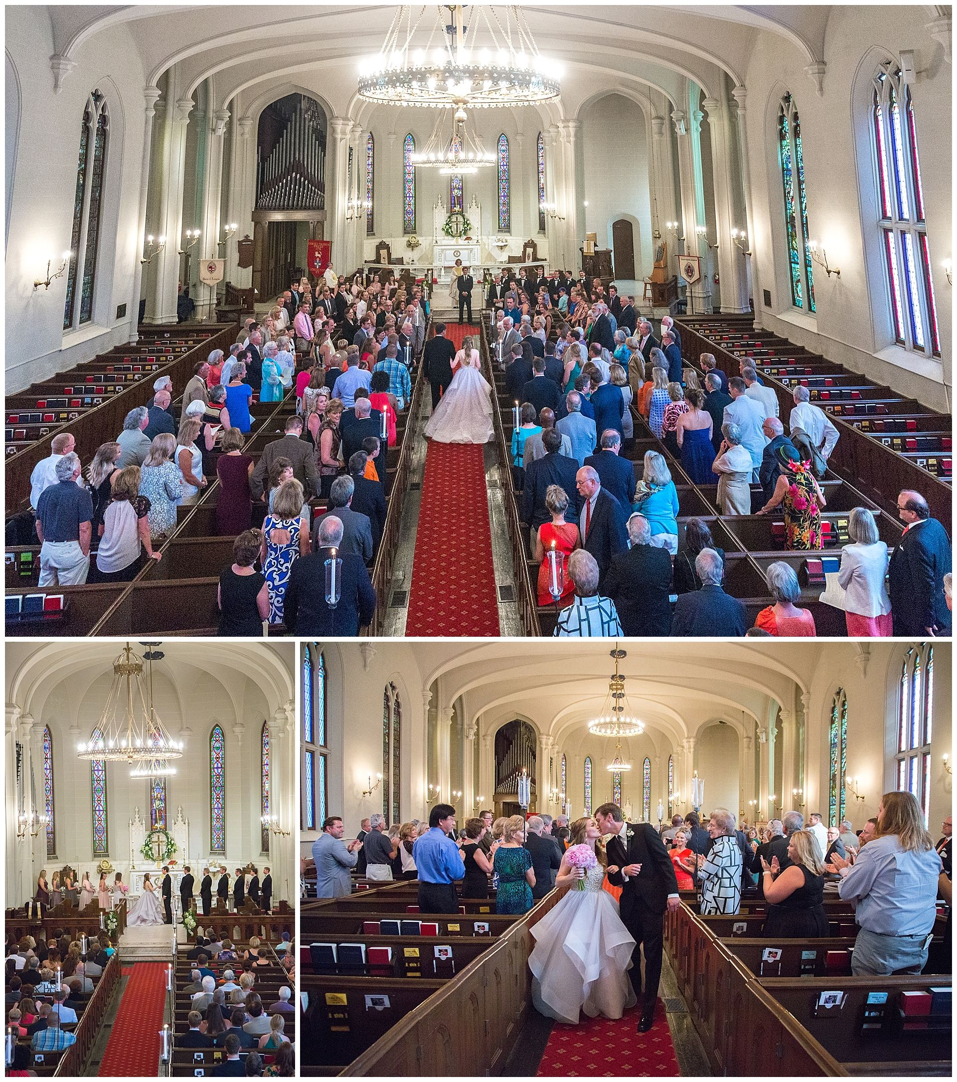 Wedding Photography Ceremony At Christ Church Cathedral In Kentucky Bride And Groom Dress