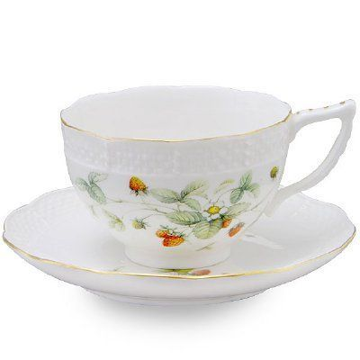 Strawberry Field Teacup & Saucer Set