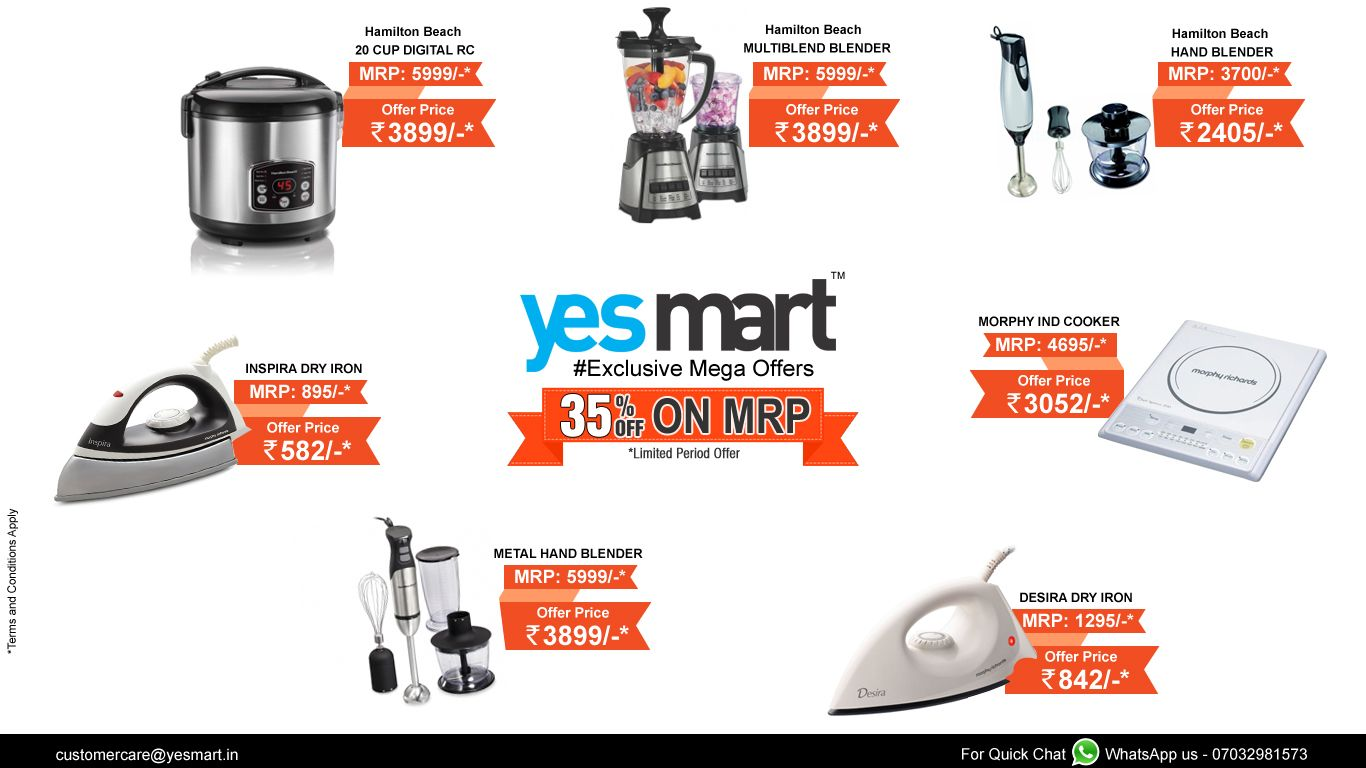 YesMart Exclusive Mega Offers!! Get 35% off on Small Home ...