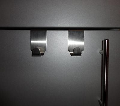 Details zu 2 Handtuchhaken zum Einhängen, Edelstahl, Handtuchhalter - handtuchhalter für küche
