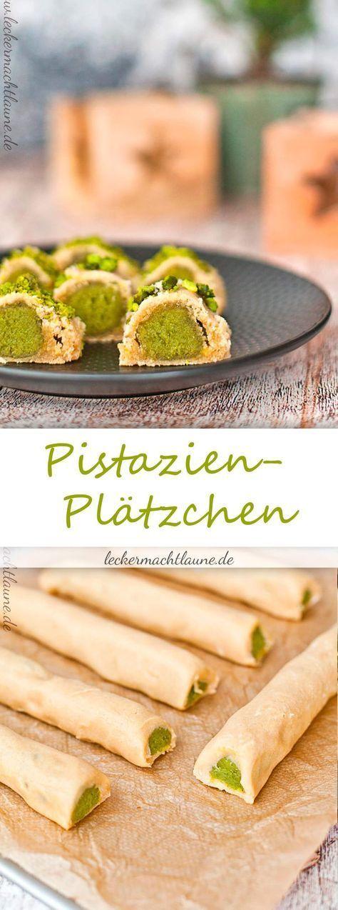 pistazien pl tzchen weihnachtsb ckerei bakery cookies shortbread und desserts. Black Bedroom Furniture Sets. Home Design Ideas