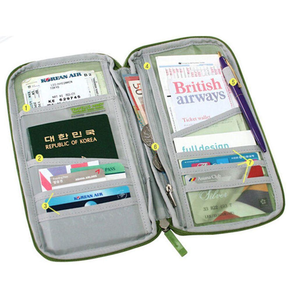 046b89d1270 1X Multi Pockets Travel Cash Wallet Organizer For Credit ID Card Passport  Holder