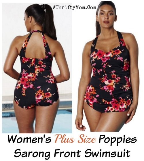 plus size swim suit, plus sized summwer fashion, black with floral