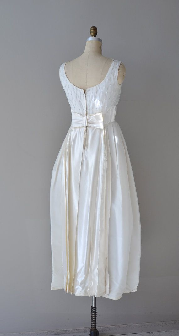 60s wedding dress / 60s dress / Love Me Tender gown | Vintage Bridal ...
