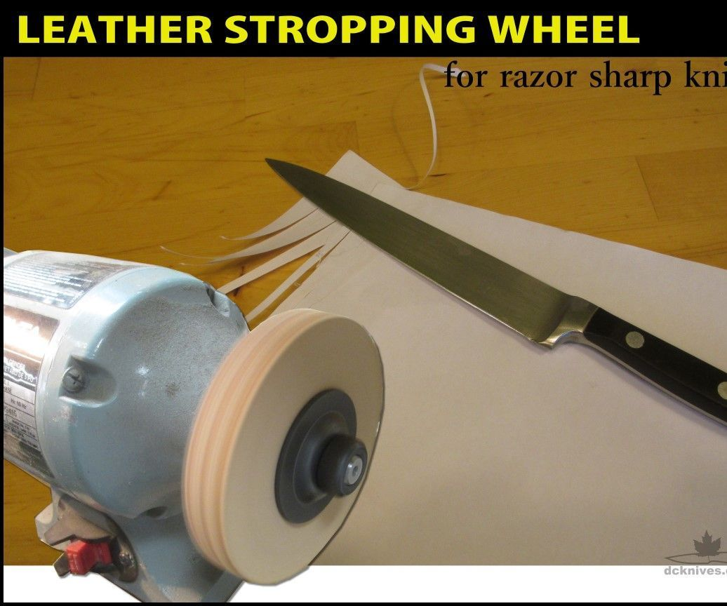 Leather Stropping Wheel Leatherworking Tools Knife Sharpening
