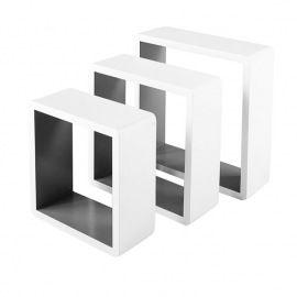 Lot De 3 Cubes Blanc Interieur Gris Etagere Murale Castorama Tablette Murale Interieur Gris