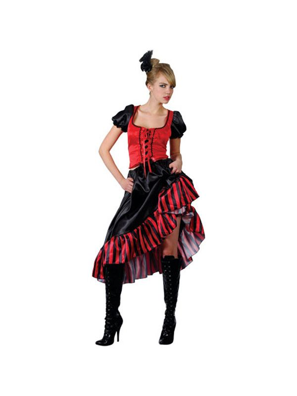 Adult 14 16 Can Can Saloon Girl Burlesque Moulin Rouge Party Fancy