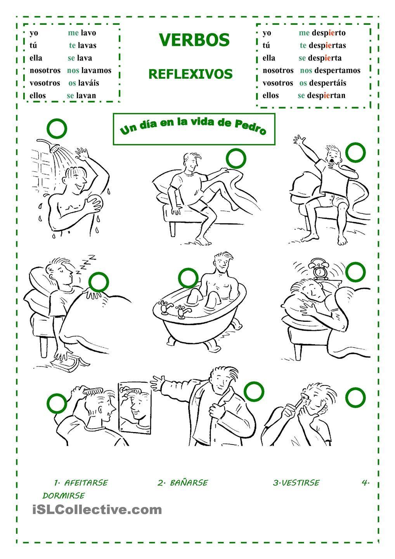 Un Daa En La Vida De Pedro Verbos Reflexivos Planes De Lecciones De Espanol Verbos [ 1440 x 1018 Pixel ]