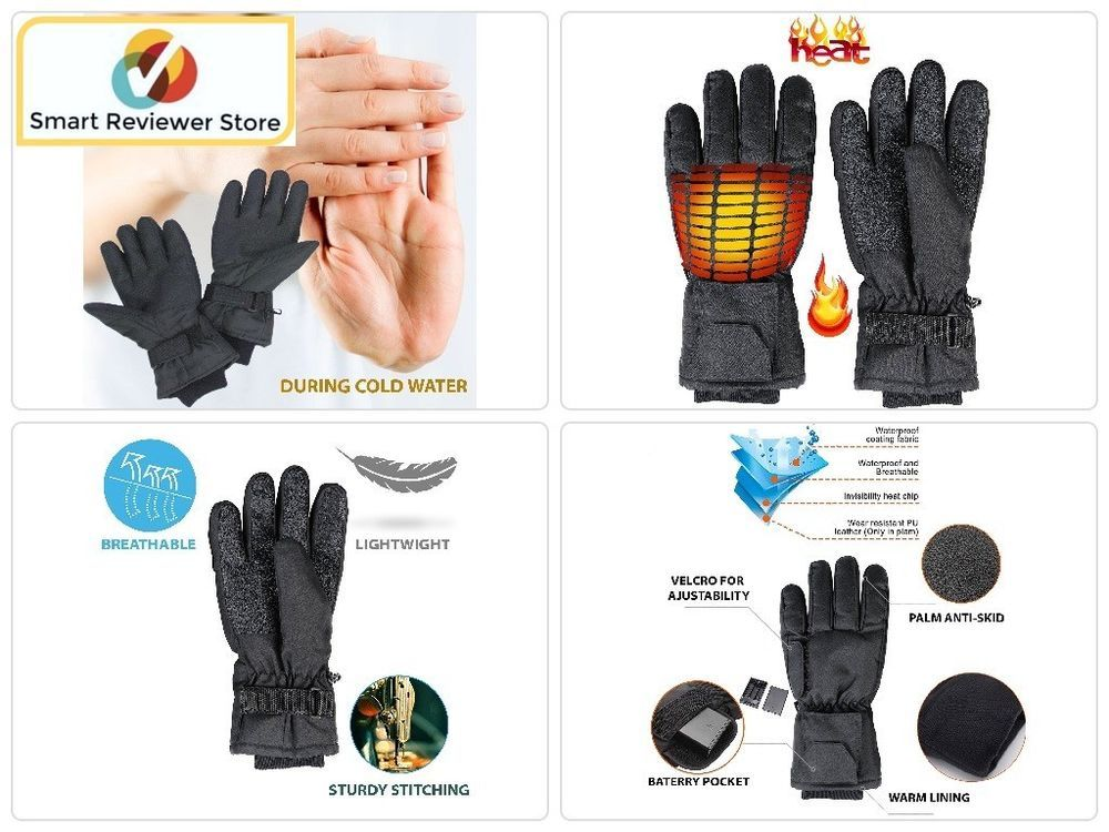 Rechargeable Battery Powered Heated Thermal Gloves Electric Winter Hand Warmer Perfectlifeideas Mittens Hand Warmers Gloves Warmers
