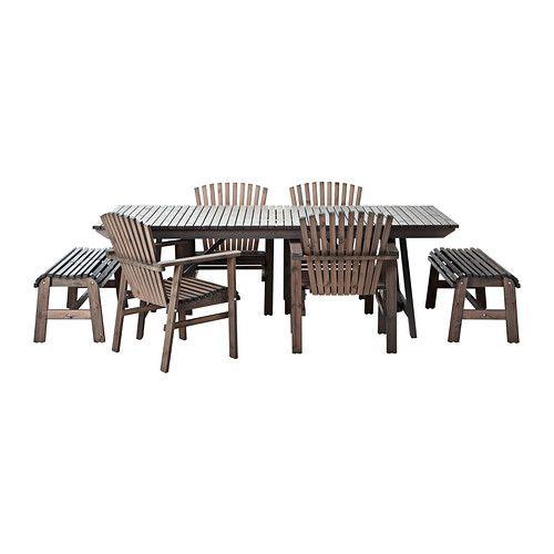 SUNDERÖ Table, 2 bancs et 4 chaises IKEA Ideas for the garden