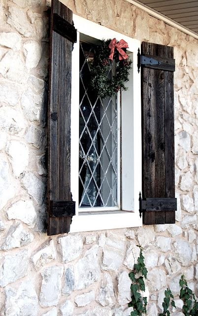 Wooden Shutters How Would These Look Against Colonial