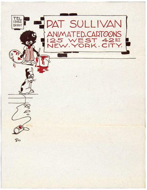 Pat Sullivan's letterhead, c.1918
