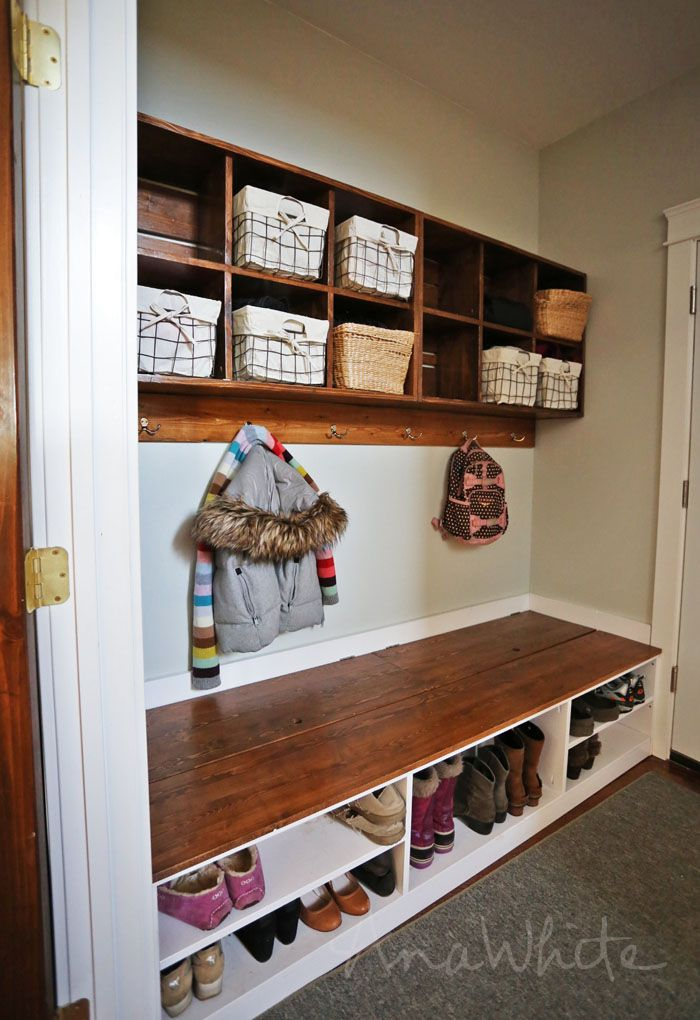 Extra Wide Shoe Bench With Storage Mudroom