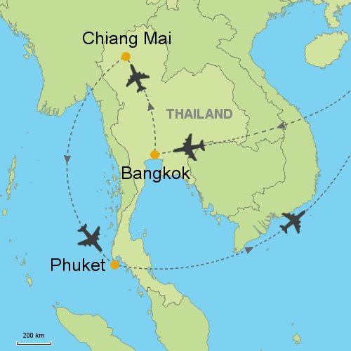 MAP Bangkok - chiang mai - phuket