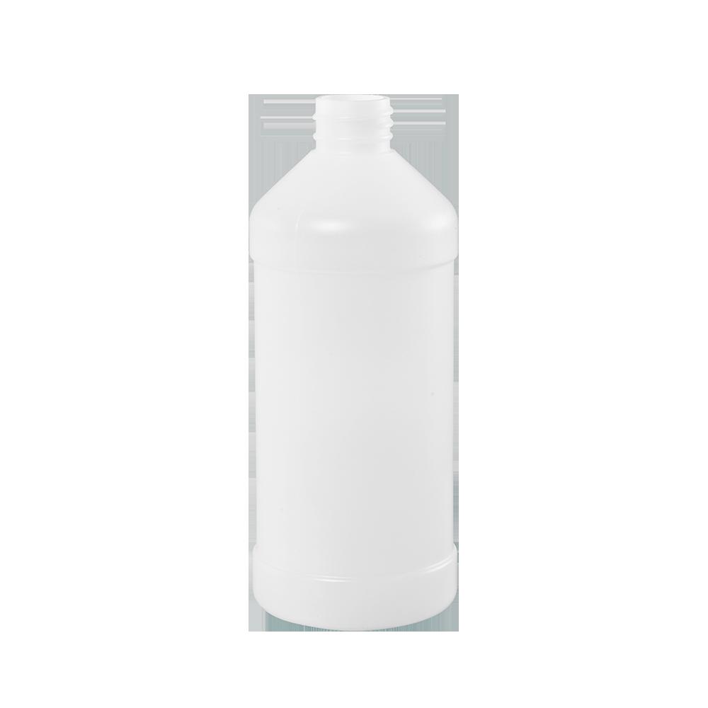 Illing Part 3541n 16 Oz Natural Hdpe Plastic Modern Round Bottle 28 410 Modern Round Plastic Bottles Come In An Assort Bottle Custom Bottles Modern Round