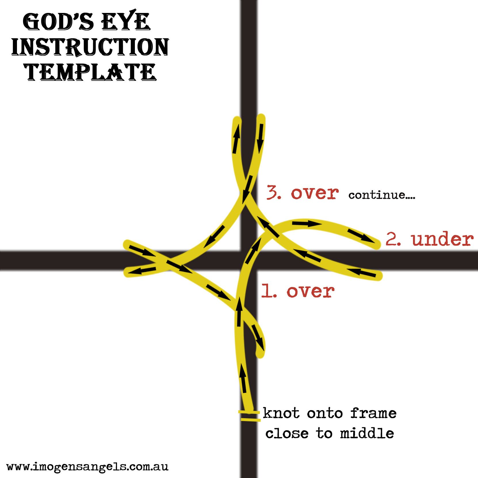 ImogenS Angels GodS Eye Instructions  Fabric And Fibre