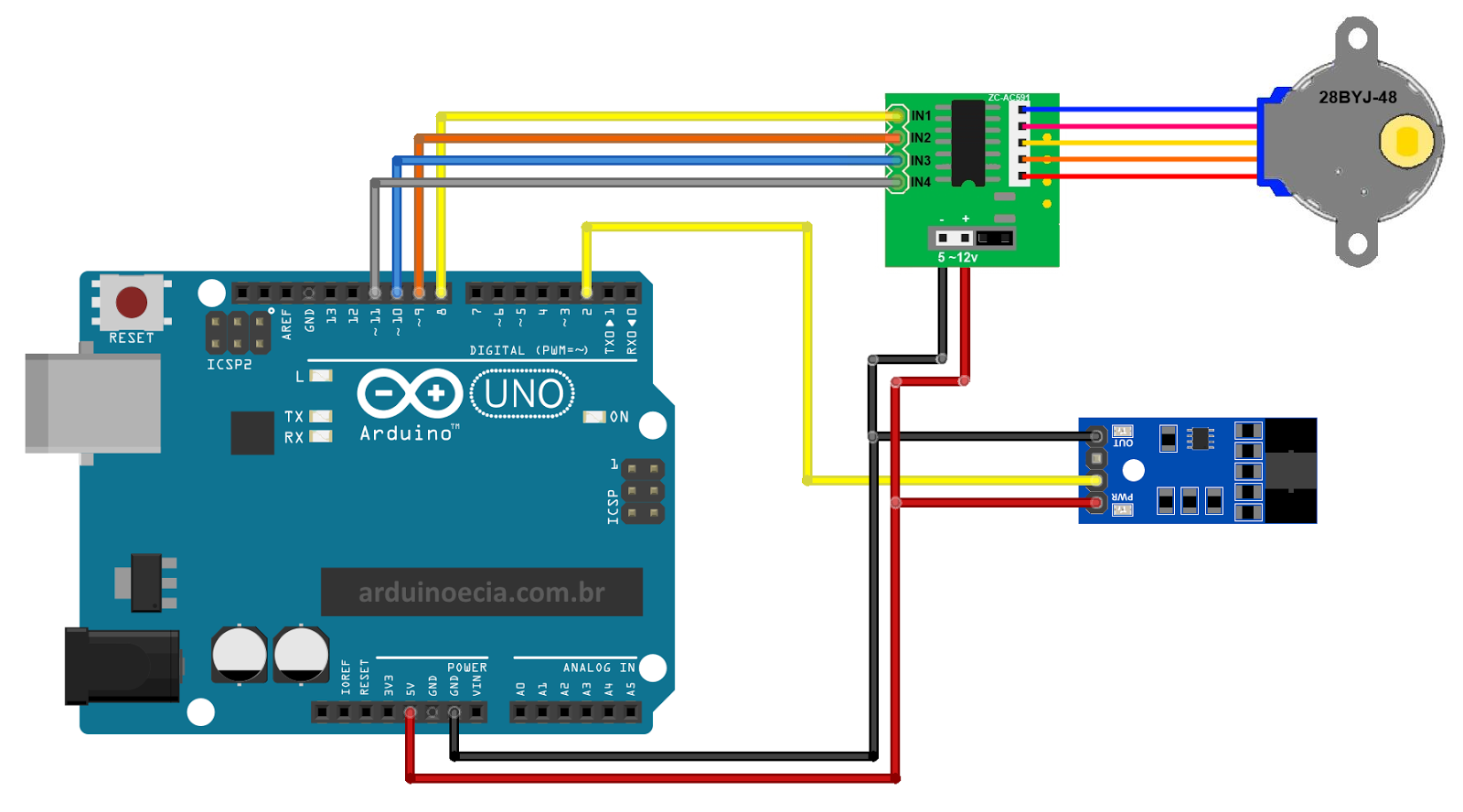 Como Medir A Rotao De Um Motor Com O Sensor Velocidade Lm393 Pi Cnc Projects Buy Alamode Controller Calculator Raspberry Arduino Passo 28byj 48 E