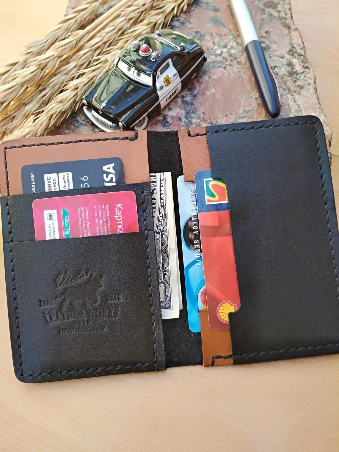Bi fold wallet bi fold card holder leather wallet slim