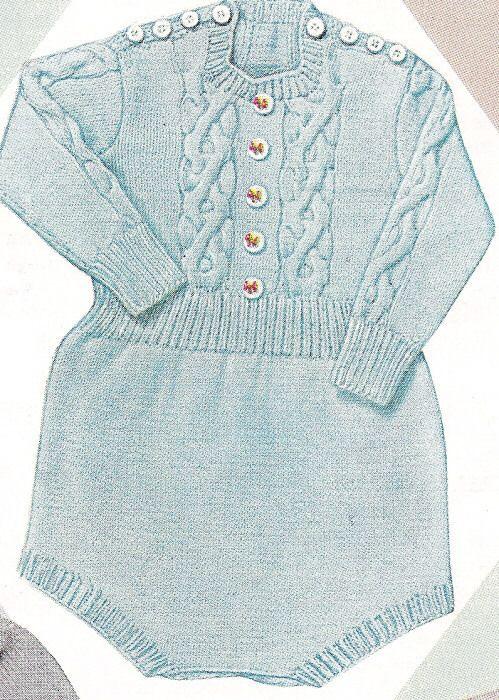 Knitting Pattern Baby Romper Creepers Onesie Suit Babies