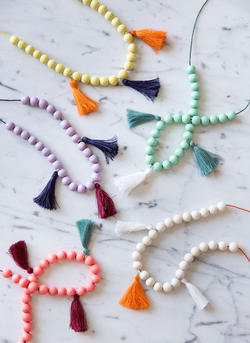 Girl/'s Tassel Necklaces,girls tassels,kids tassels,yellow tassel,children/'s tassels,green tassel,blue tassel,tassel necklaces,girl/'s jewelry