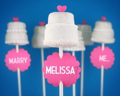 Proposal by Bakerella, via Flickr