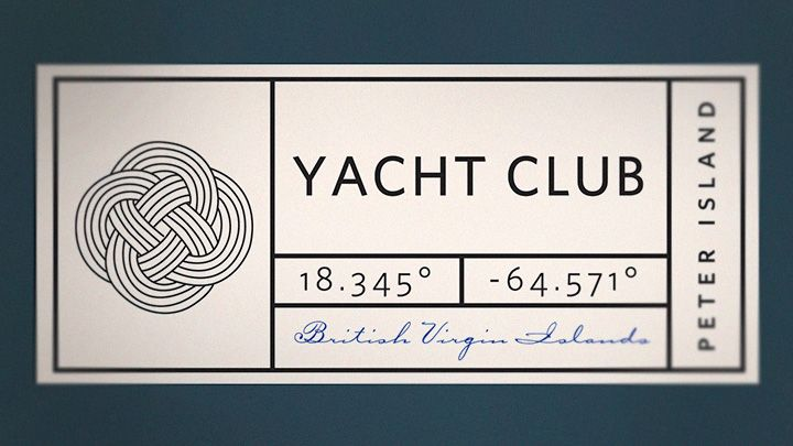 Interesting use of space. The different fonts, alignments and directions kind of make you work for the information, which isn't great, but I do like the integration of the knot and the GPS coordinates. Very nautical.