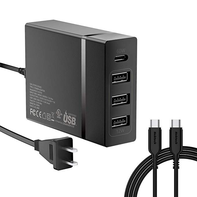 usb c wall charger nekteck 72w usb wall charger with 4 on usb wall charger id=92475