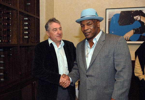 Robert De Niro with Mike Tyson