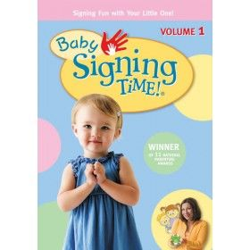 Baby's first step into signing! The Baby Signing Time series combines clever songs, animation, and real signing babies - all age two and under - to make signing easy and fun. $21.99