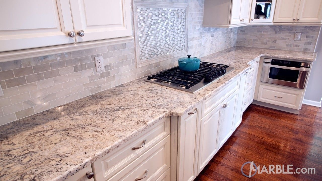 Snow white granite kitchen countertop granite marble White kitchen cabinets with granite countertops photos