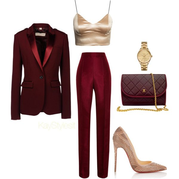 Wine and Dine by kaystylesit on Polyvore featuring Burberry 627be435b7ca