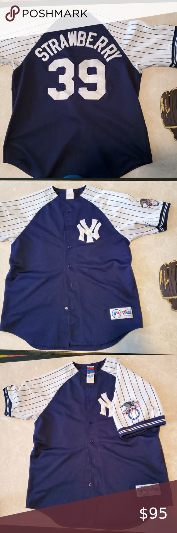 Vintage Majestic Yankees Darryl Strawberry Jersey In 2020 Majestic Shirts Fashion Clothes Design