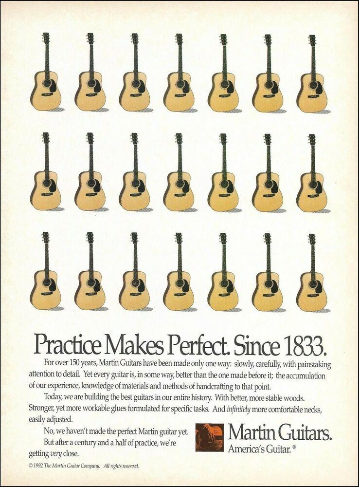 Martin Acoustic Guitars 1992 Original Advertisement 8 X 11 Guitar Ad Print Martin Martin Acoustic Guitar Martin Guitar Acoustic Guitar