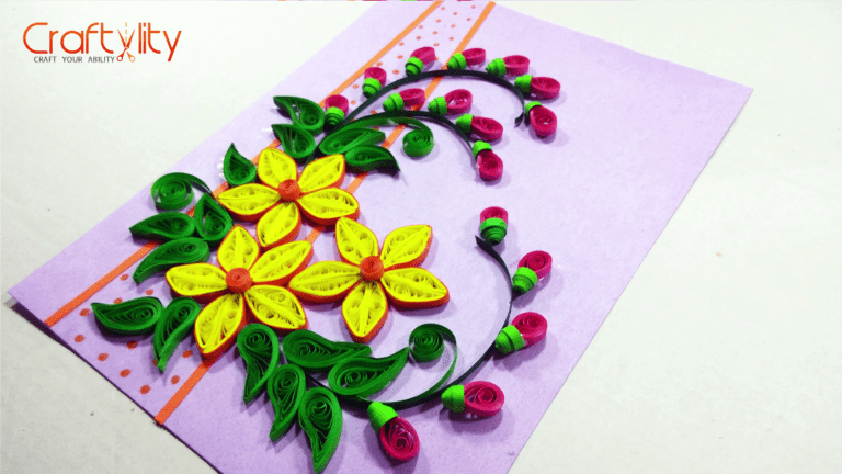 How to make paper quilling birthday greeting card craftylity how to make paper quilling birthday greeting card craftylity m4hsunfo