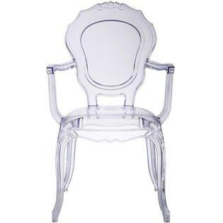 7250 Sears Add a white fur chair pad Homelala Clear Modern