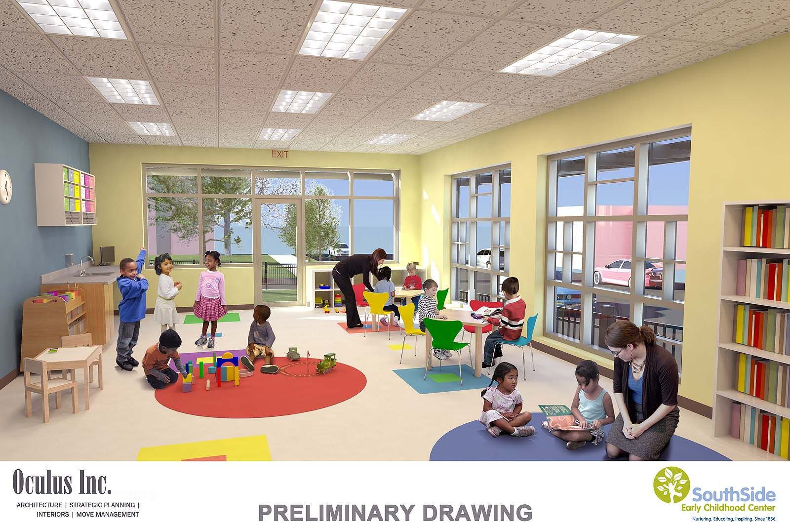 Beautiful design dressing rooms in kindergarten 88