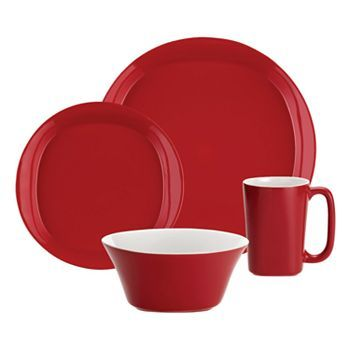 Rachael Ray Round and Square Red 16-pc. Dinnerware Set - $140 - KOHLS  sc 1 st  Pinterest & Rachael Ray Round and Square Red 16-pc. Dinnerware Set - $140 ...