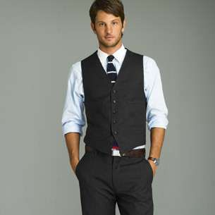 There's little hotter than a young man in dress pants and vest ...