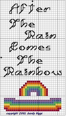 Rainbow Bookmark Cross Stitch Cross Stitch Bookmarks Christian