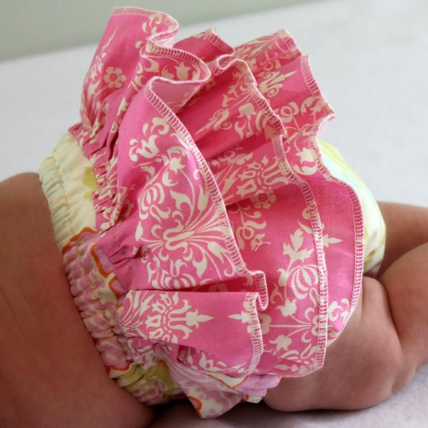 Ruffled or regular diaper cover (baby bloomers) pattern & tutorial ...