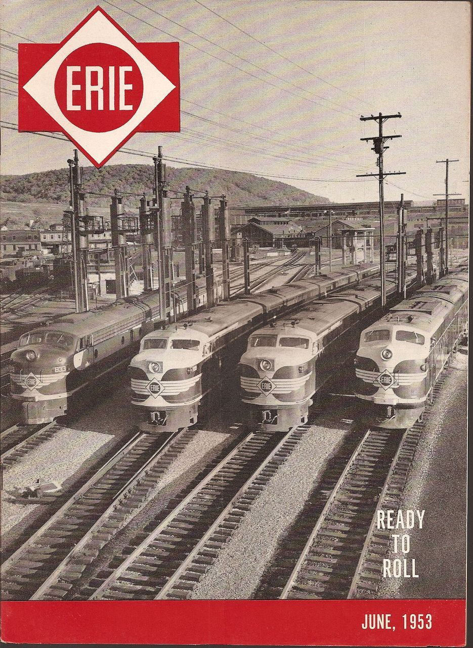 New Motors Erie Pa >> ERIE Railroad Magazine * June 1953. Hornell New York, my ...