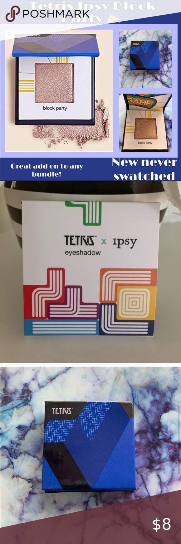 NIB Tetris Ipsy Eyeshadow NIB Tetris Ipsy Eyeshadow in the shade Block Party is …