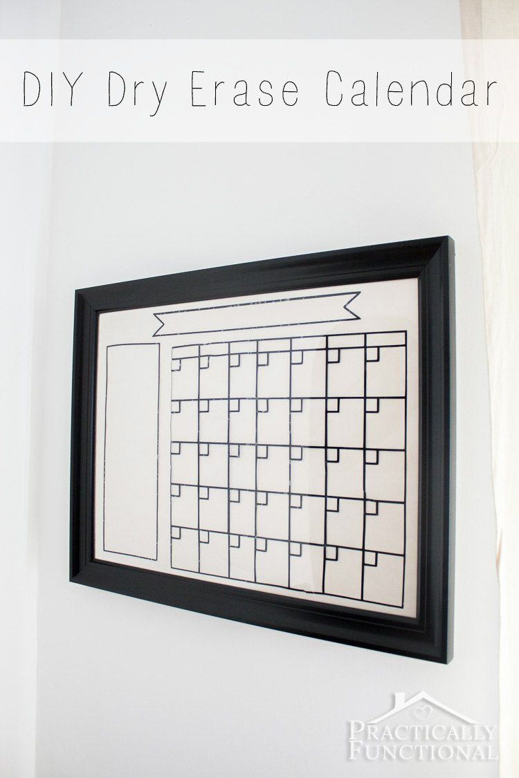 Diy dry erase calendar pinterest glass picture frames dry erase make your own dry erase calendar with a glass picture frame and black adhesive vinyl solutioingenieria Image collections