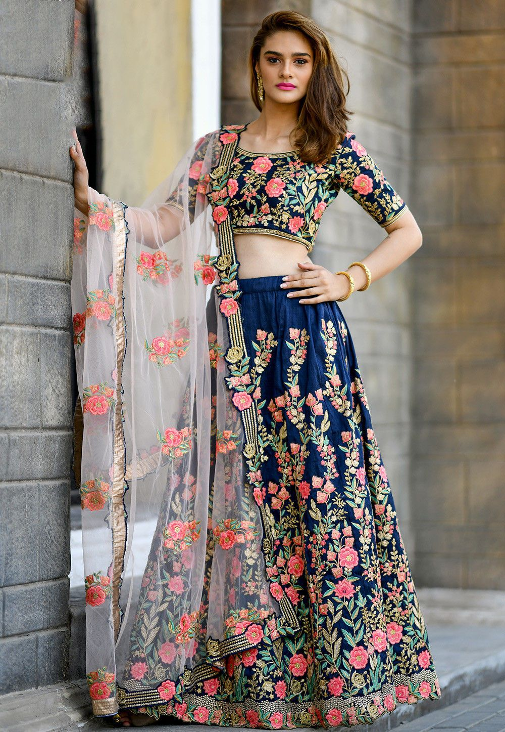 Best Designer Lehenga Choli with high quality  digital embroidery work Wedding lehenga choli party wear lehenga choli Indian Lehenga choli