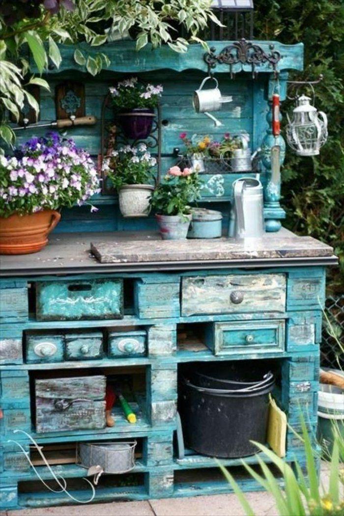 Tolle Gartenmobel Zubehor Gartenschrank Shabby Chic Garten Rustikale Gartenmobel
