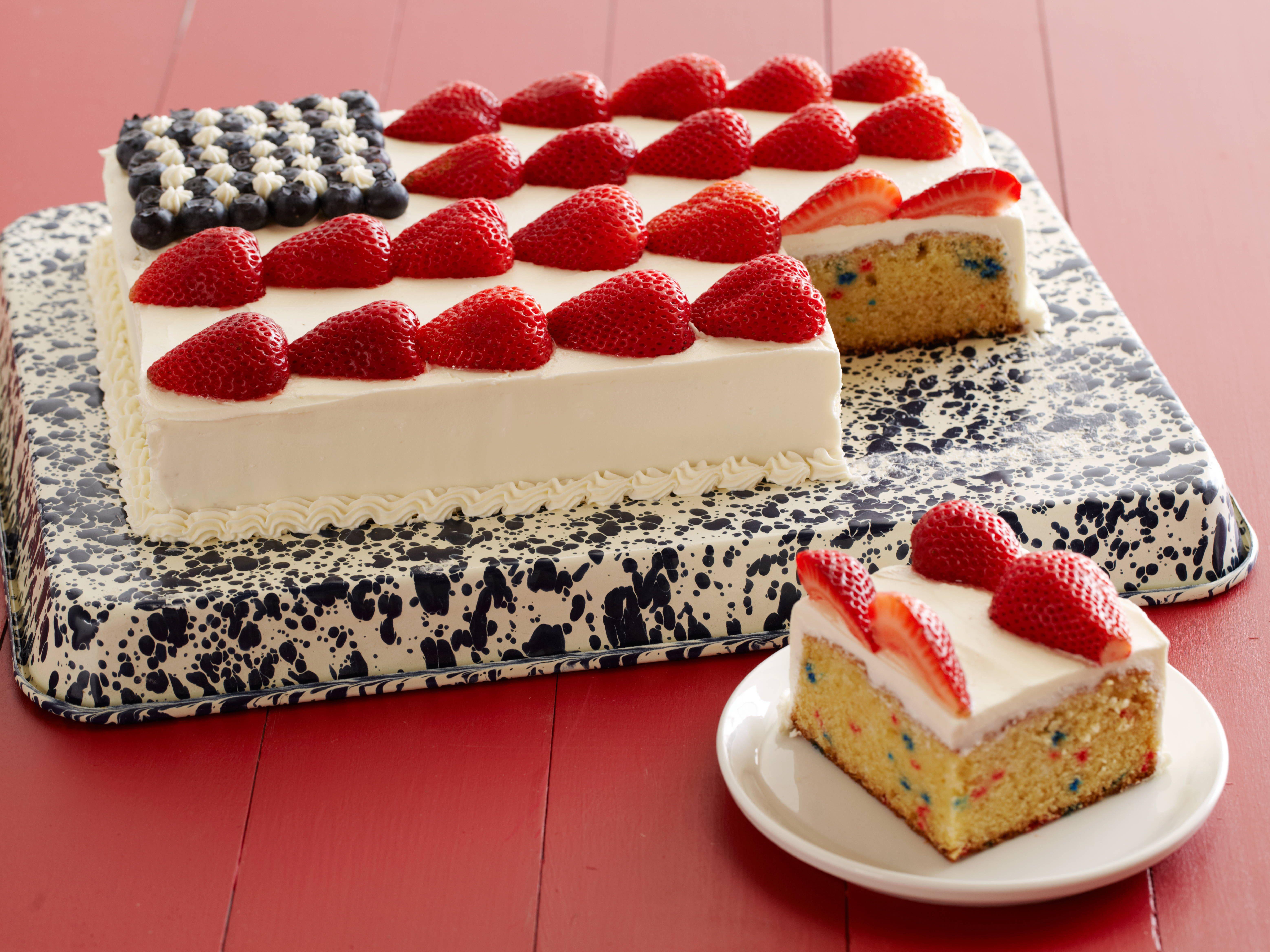 Flag Cake from FoodNetwork.com