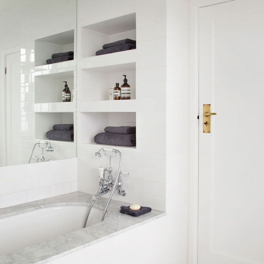 Image Result For Recessed Wall Shelves Towels