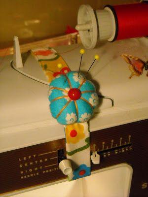 Lolly-tots artista Blog: Máquina de coser Pin Tutorial Cojín