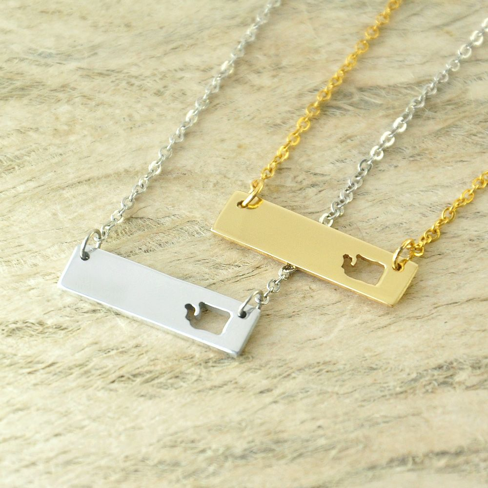 Washington bar necklace cut out map necklace alloy state necklace washington bar necklace cut out map necklace alloy state necklace map charm custom map state pride aloadofball Gallery